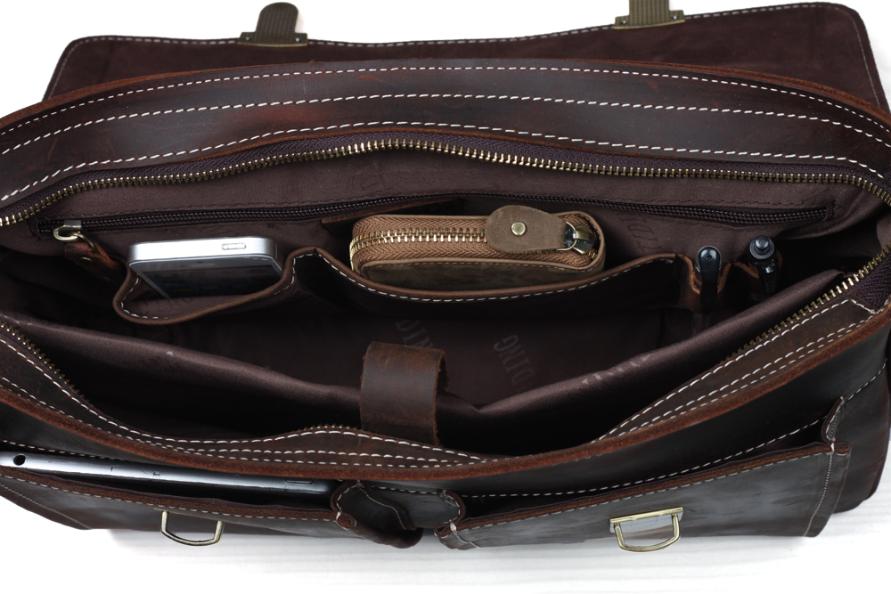 Portefeuille Authentique Cuir Style En Sac Designer Vintage Main Hommes 1119 documents Bureau Sacs À Tiding Véritable Porte wqBFEx0