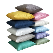 Home Decorative Sofa Throw Pillows Linen pillowcase sofa cushion cover simple solid color Cushion Cover