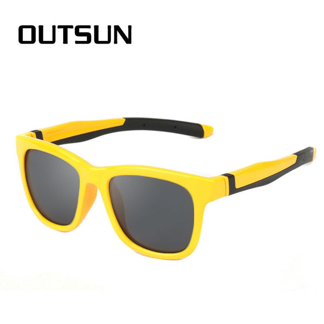 OUTSUN Lente Polarizada óculos de Sol Dos Miúdos Super Light TR90 Óculos de  Sol Polaroid Meninos 843bf58840