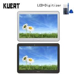 Wyświetlacz LCD do Samsung Galaxy Tab 4 10.1 SM T530 T535 T531 T530 wyświetlacz LCD montaż digitizera ekranu dotykowego z ramką w Ekrany LCD i panele do tabletów od Komputer i biuro na