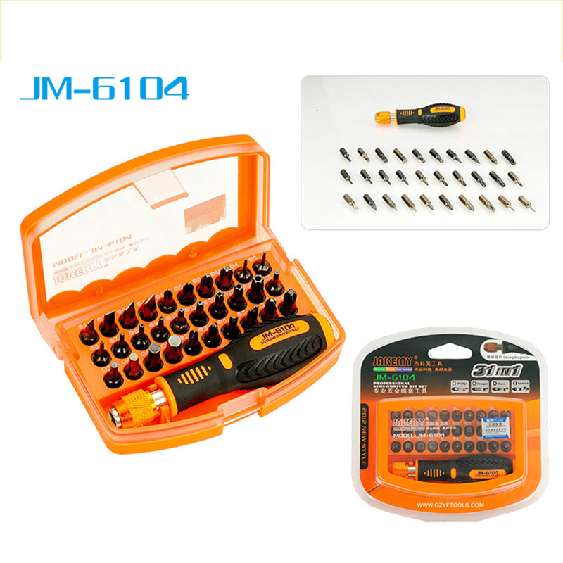 JAKEMY 31in1 High-altitude Working Screwdriver Set JM-6104 Repair Hand Tools Kit for Mobile Phone Computer Electronic Model