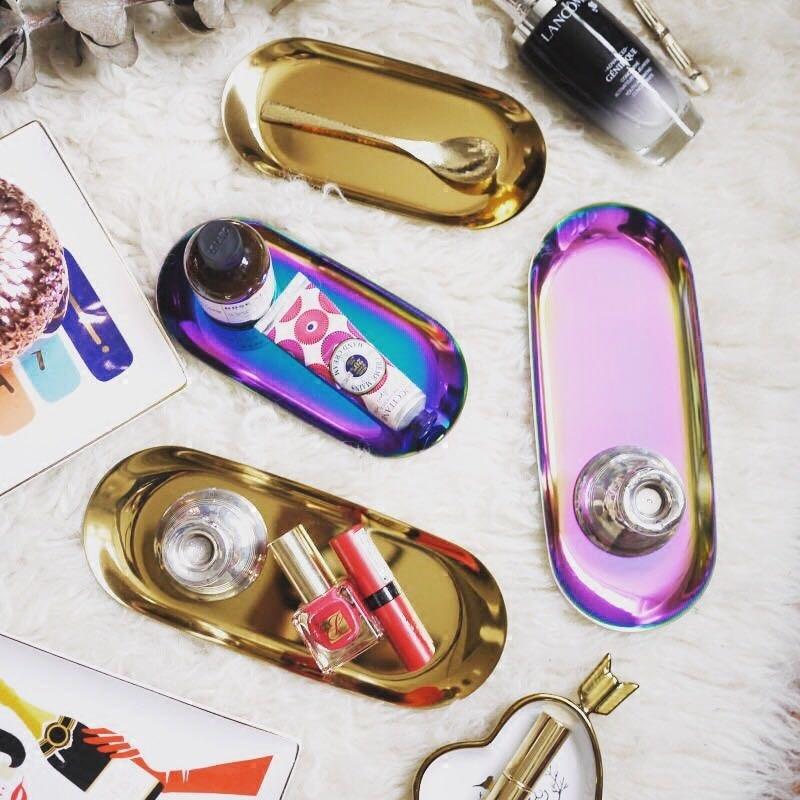 Nordic Rose Gold metalen opbergvak luxe goud zilver ovale fruitschaal - Home opslag en organisatie