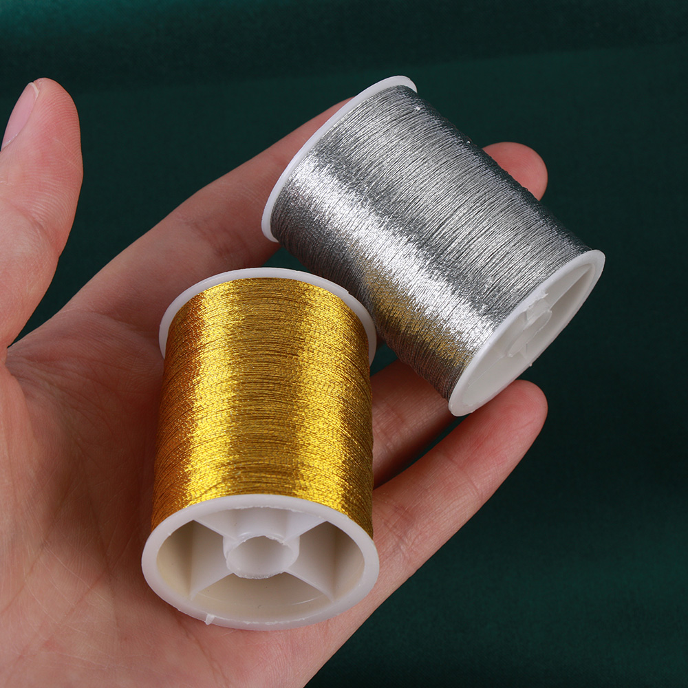 2pcs Polyester Metallic Embroidery Thread for Domestic Home Sewing Machine