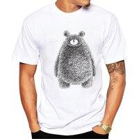 Gildan último popular impresión diseño oso de peluche verano camiseta hombres camiseta de verano marca moda oso lindo tops