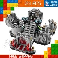 723pcs Bela 10464 New Star Wars Death Star Final Duel Assembling Building Blocks Minifigures Gifts Set