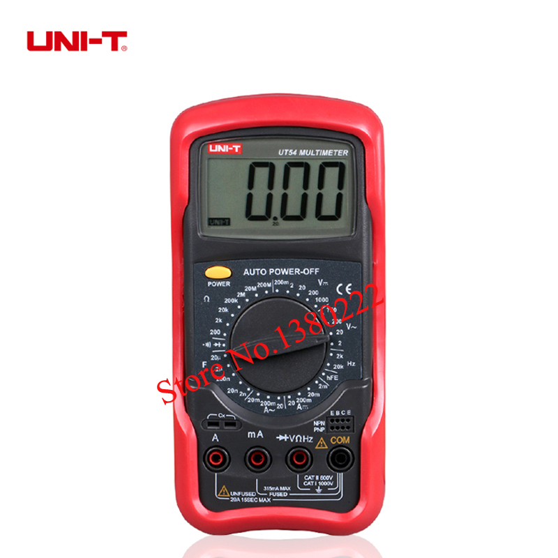 UNI-T UT54  Digital Multimeter Portable Voltmeter Tester Meter  AC/DC frequency multimeter Ammeter Multitester mini multimeter holdpeak hp 36c ad dc manual range digital multimeter meter portable digital multimeter