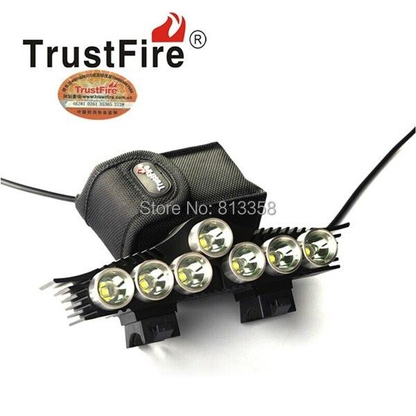 Free shipping TrustFire TR-D013 7 X CREE XM-L2 LED 3 Mode 3200Lm White Bike Light