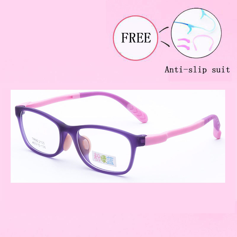 Healthy TR90 Children Clear Glasses Girls Boys Flexible Eyewear Frames Kids Glasses Frames Optical Spectacle Frames Y2105-31