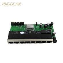 OEM Neue modell 8 Port Gigabit Schalter modul Desktop RJ45 Ethernet Schalter modul 10/100/100 0 mbps lan Hub schalter modul 8 portas