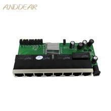 OEM Novo modelo 8 Portas Switch Gigabit módulo módulo Ethernet Switch Desktop RJ45 10/100/1000 mbps Lan hub switch módulo 8 portas
