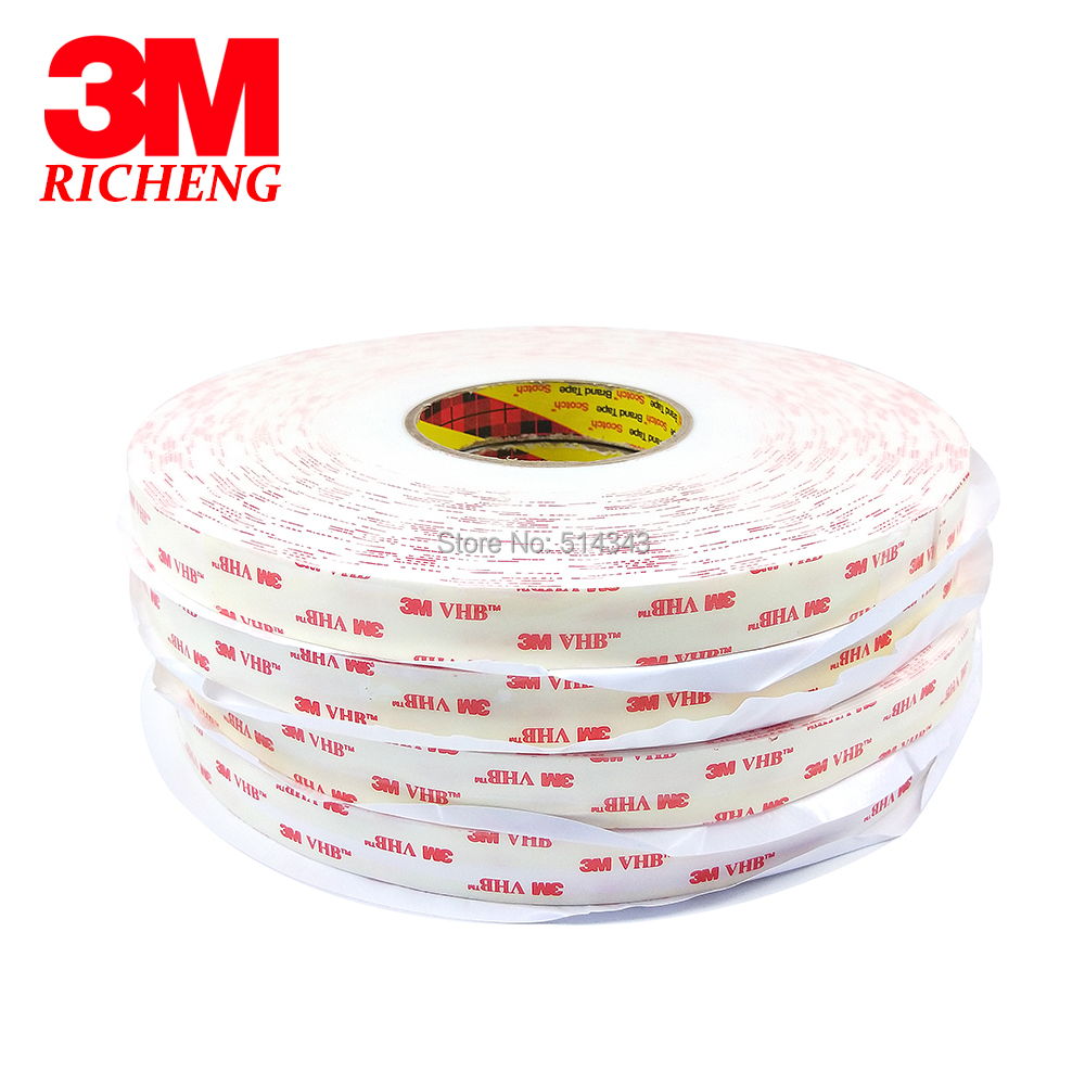 3M 4950 Double Sided VHB Acrylic Foam Tape self adhesive transparent holographic film 10MM*33M 1Roll/Lot 5sheets pack 10cm x 5cm holographic adhesive film fly tying laser rainbow materials sticker film flash tape for fly lure fishing