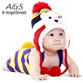 New Cute Warm Cap Winter Animal Hats For Baby Earflaps Velvet Thickening Crochet Knitted Boy Girl Beanie Children Hat