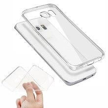 Прозрачный Clear Case для Samsung Galaxy A3 A5 A7 J3 J5 J7 2015 2016 2017 S6 S7 S8 край Плюс Мягкий ТПУ Силиконовый Чехол Ультра Тонкий