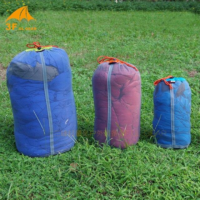 3F ul Gear 2 size 40*20cm/ 30*15cm Ultra-light PU coating camping outdoor mesh bag