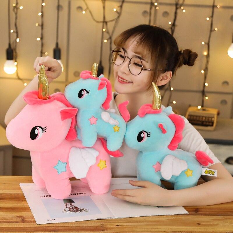 10/20cm Soft Kawaii Unicorn Plush Toy Stuffed Cute Unicornio Plush Bag Pendant Lovely Animal Gift For Kids Baby Doll