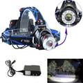 Zoomable 2000 LM CREE XM-L XML T6 LED Headlight Headlamp   Flashlight Head Light Lamp +AC Charger