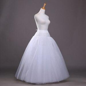 Image 3 - 4 schichten von Fest Tüll Petticoat Unterrock Schlupf Hochzeit Zubehör Chemise Ohne Hoop Für Hochzeit Kleid Krinoline Jupe Slip