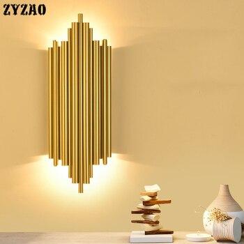 Postmodern Minimalist Living Room Wall Lamp Creative Luxury Bedroom Bedside Lamp Corridor Porch Restaurant Home Decor Wall Light