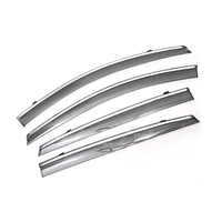 4pcs Window Visor Vent Shade Sun Rain Guard Deflector For Chevrolet Malibu 2016 2017