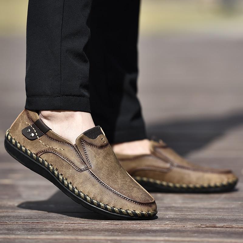 NINYOO Handmade Marke Schuhe Männer Echtes Leder Freizeitschuhe - Herrenschuhe - Foto 5