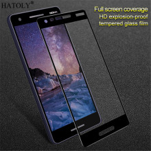 2pcs Glass For Nokia 2.1 Tempered Screen Protector Full Cover 2 2018 Film