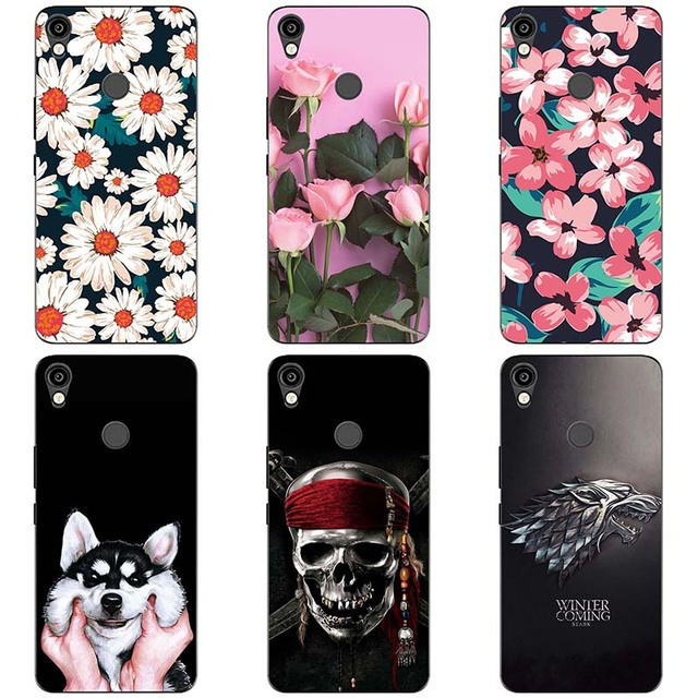 best authentic ddce4 6a06a US $2.48 17% OFF For Tecno KA7 Soft silicone Phone Cases For Tecno KA7 Soft  TPU Material Back Cover Coque Print painting Flower style-in Fitted Cases  ...