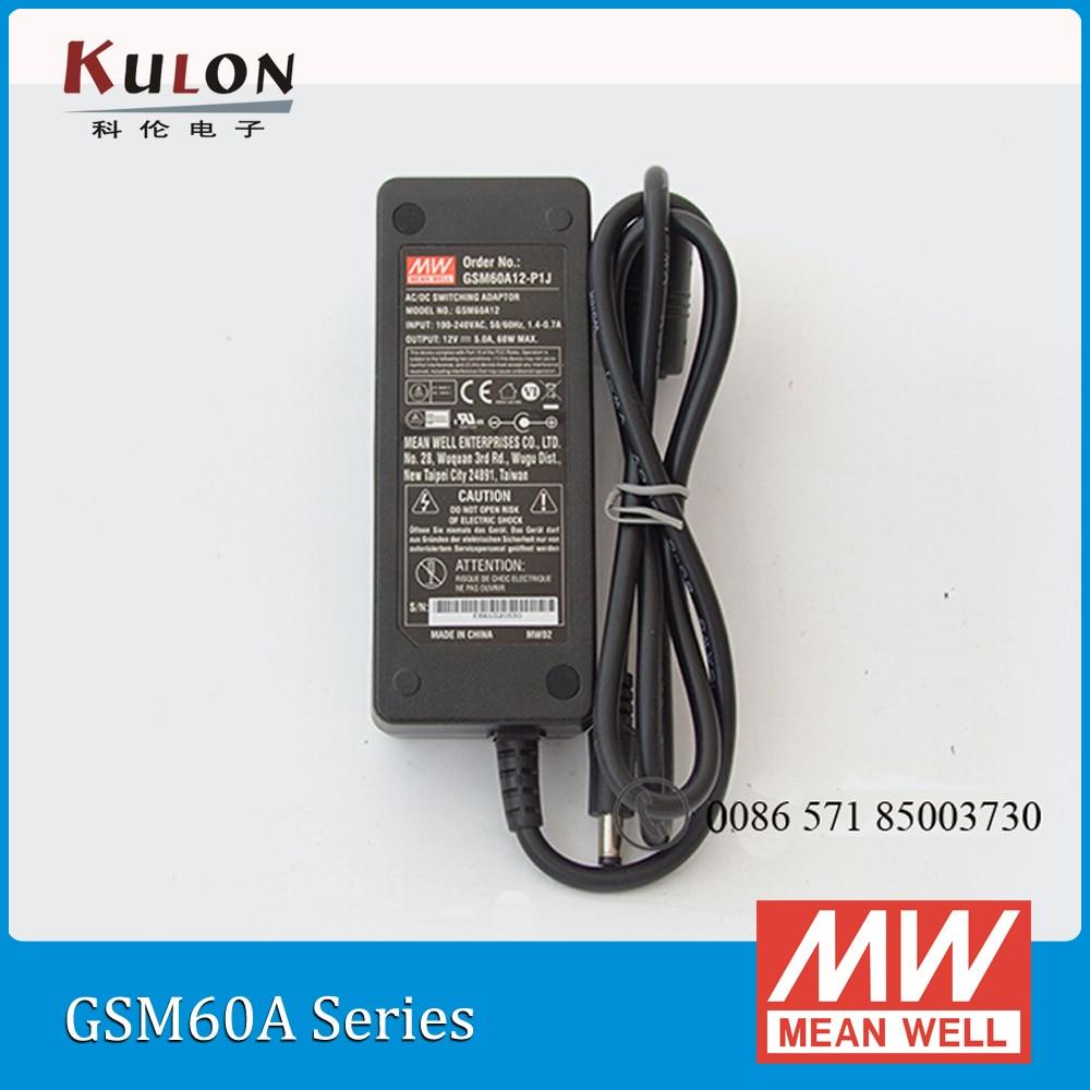 цена на Original Meanwell GSM60A24-P1J mean well 60W 2.5A 24V AC/DC Green Medical Adaptor