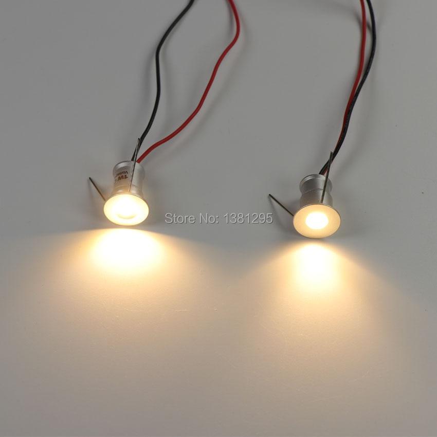 1W Mini LED Teto Holofotes Pequeno Recesso Iluminação Vitrine Verander Cozinha Passo Escada Parede Spot Light 12V Regulável manchas