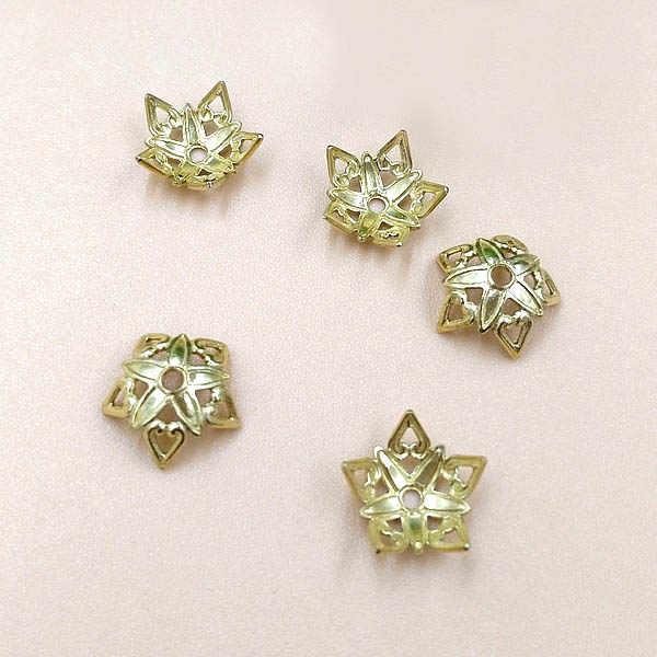 9 Mm Vintage Kerawang Bunga Charms Spacer Beads Akhir Beads Caps Konektor Membungkus Pengaturan Diy Temuan Grosir