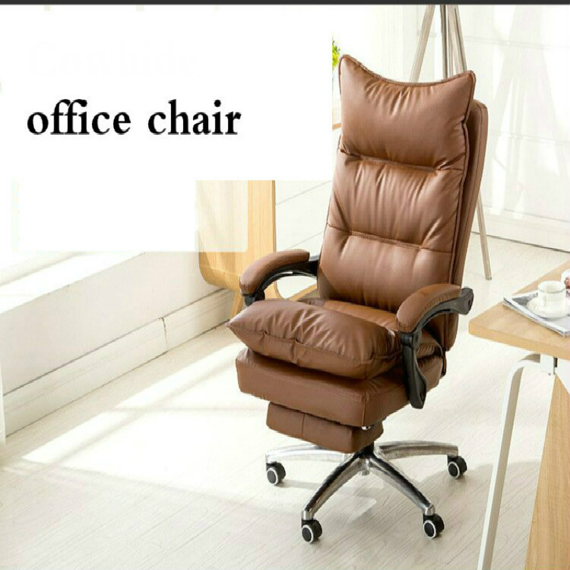 Office Chair Colorful PU Genu Leather Office 180 Degree Reclining Massage Computer Chair Home Swivel Lifting Chaise Silla Gamer