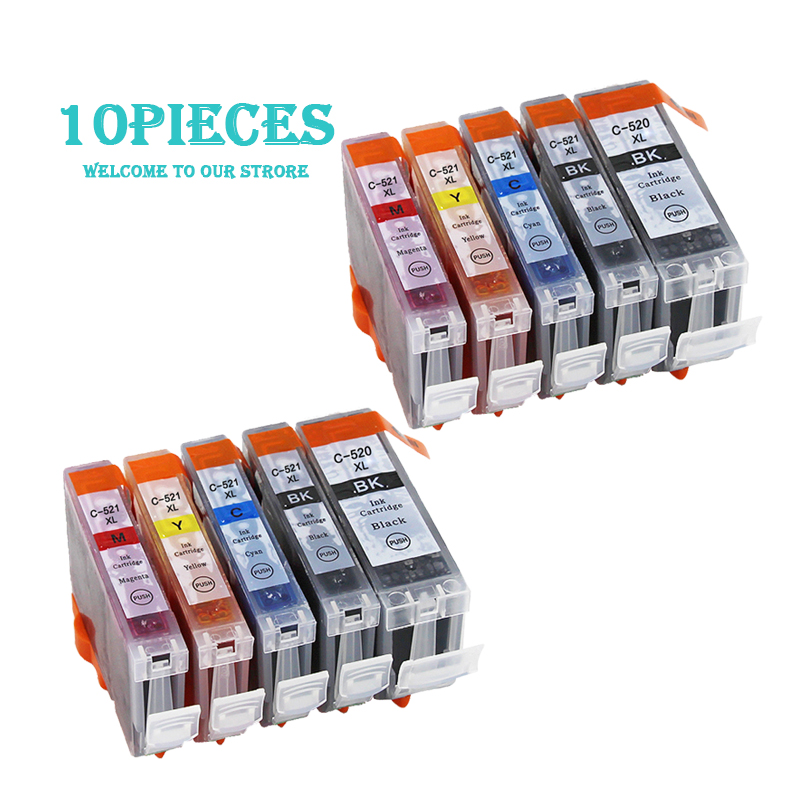 LuoCai Compatible <font><b>Ink</b></font> <font><b>Cartridges</b></font> for <font><b>Canon</b></font> PGI 520 CLI 521 MP540 MP550 MP560 MP620 <font><b>MP630</b></font> MP640 MP980 MX860 printer PGI520 CLI521 image