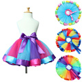 Girl skirt Baby Kids Colorful Mesh Tutu Skirt Children Summer Rainbow Skirts Pettiskirt Girls Performance Dancing Skirt Costumes