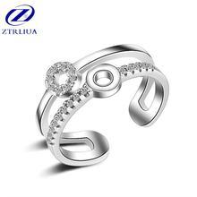 Женское кольцо из серебра 925 пробы с гипоаллергенным кристаллом
