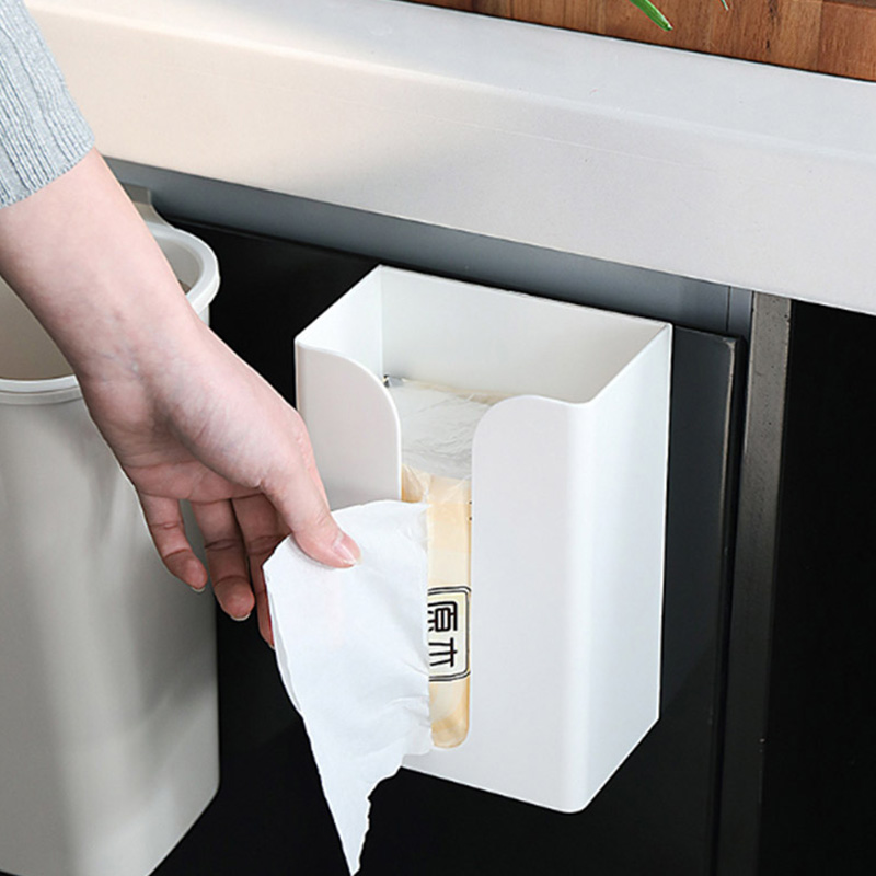 1Pcs Wall mounted Kitchen Tissue Box Multi function Non porous Sanitary Tray Toilet Paper Home Storage tissue box holder in Tissue Boxes from Home Garden