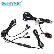 ESYNiC 2 м ИК-приемник 1 м ИК-излучатель расширитель пульт дистанционного управления для спутникового ТВ-приемника, CD dvd-плеер аудио-видео компонентный комплект