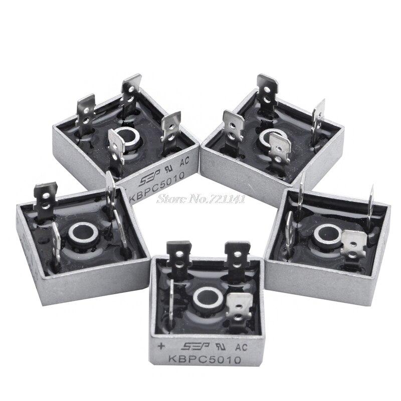 Caixa de Metal Ponte do Diodo Pces v Única Fase Retificador Dropship 5 50a Kbpc5010 1000