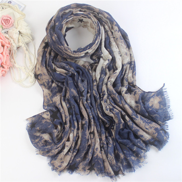 Stars Scarf Women Ladies Scarves Cowboy Style Tie-dye Scarve For Men Foulard Shawls And Scarves Bufanda Mujer Gift Spain WJ054