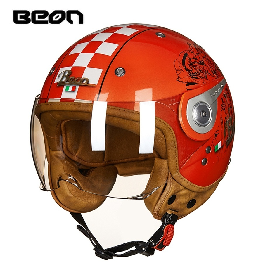 Helmets Knowledgeable Free Shipping 1pcs Beon Dot Ece Motorcycle Racing Retro Half Helmet Cruiser 3/4 Open Face Scooter Vintage Motorcycle Helmet Protective Gear