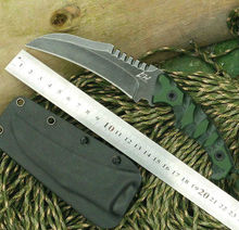 LW Karambit  Fixed D2 Blade Knife K-Sheath G10 Handle Hunting Tactical Knifes Survival Camping Knives Outdoor Tools k392
