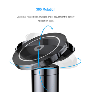Image 2 - Baseus Car Magnetic Qi Wireless Charger For iPhone X 8 Samsung Note 8 S8 S7 Fast Wireless Charging Car Mount Phone Holder Stand