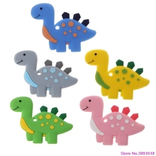 New Dinosaur Baby Teethers Pendant Necklace Accessory BPA Free Silicone Chew Toy