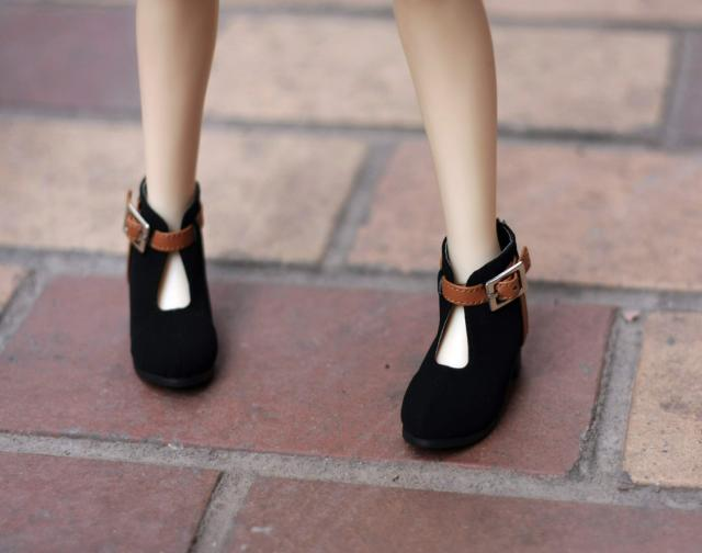 BJD doll shoes Doll accessories black shoes 1 3 SD13 SD10 size