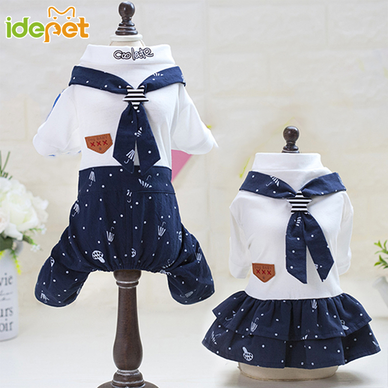 Pet Dog Clothes Soft Puppy Printing Dress Outfits Pet Clothing for Small Dogs Dress t shirts Clothes for Yorkies Chihuahua 4d30Q