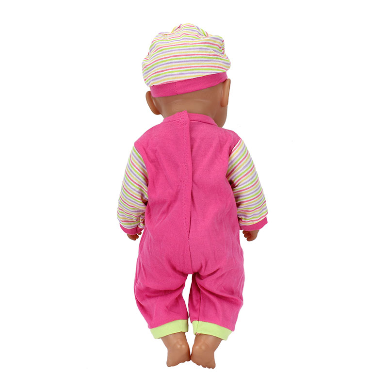 2pcsset-The-HatSuit-Wear-For-43cm-Zapf-Doll-17-Inch-Reborn-Babies-Clothes-2