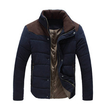 2019 Winter Jacket Men Warm Causal Parkas Cotton Coat Male Outwear Coat Size M-4XL cheap MY987 Regular Stand 0 65-0 78KG Silk-like Cotton Broadcloth sancherous Thick None Zipper Solid Casual