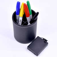 Color Pen Prediction with Leather Pen Holder Mentalism Magic Tricks Funny Stage Close Up Magic Illusions Accessory Magician