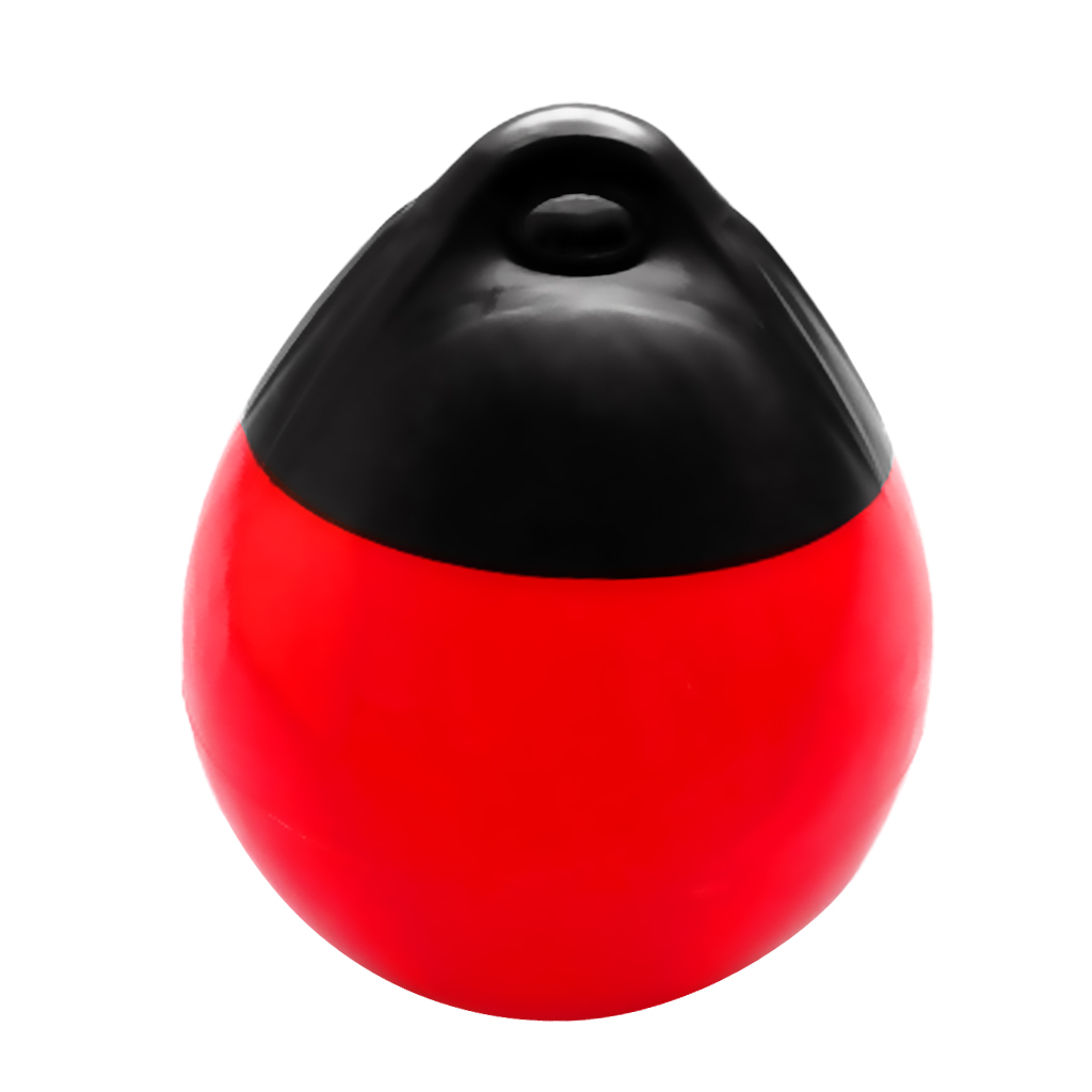 Red Marine Boat Fender Inflatable Vinyl Round Series Shield Protection Buoy