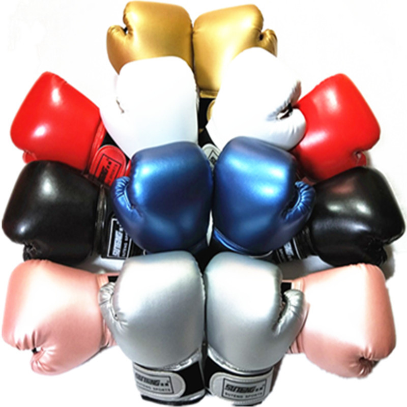 Cheap 2-8 Years Kids Boxing Gloves For Fun Muay Thai <font><b>Fight</b></font> Sanda Martial Arts Bag Punching Training Mitts Gear 2019 DEO image
