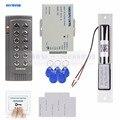 DIYSECUR 125 кГц RFID EM считыватель двери контроллер доступа система комплект + Электрический замок болта + кнопка выхода