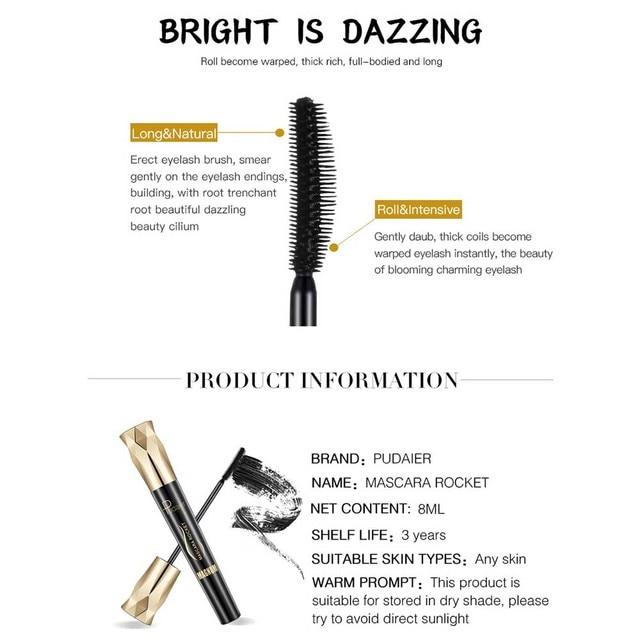 FRESHME Fiber Lash Mascara For Eyelashes Extension Black Thick Length Long Curling 4d Eye Lashes Mascara Rimel Makeup Cosmetic 2